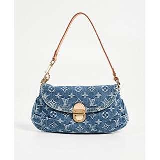 c34c636c3ff5 Louis Vuitton Lv denim pleaty bag authentic