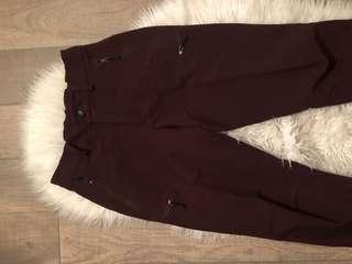 Patagonia burgundy cargo pants small S