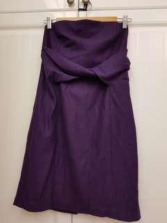 🚚 歐美古著抹胸簡約式羊毛連身裙