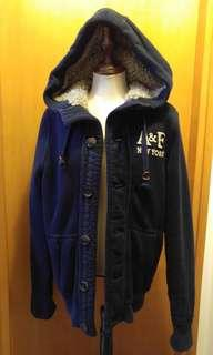 A & F full lining hooded jacket
