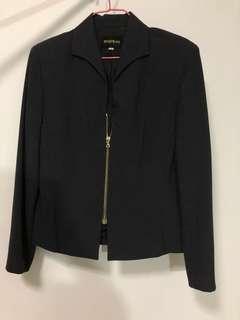 Black Zip Blazer