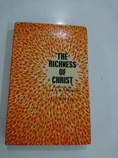 The riches of Christ
