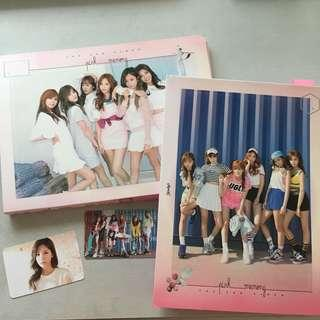 wts apink pink memory album and photocards
