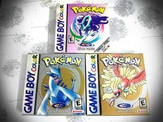 vintage GBC pokemon series with box(bootleg)