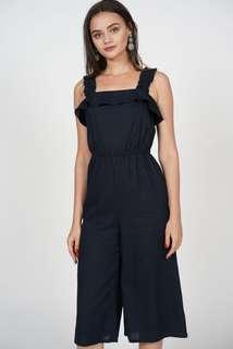 MDS Adira Frilly Jumpsuit in Navy