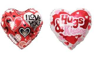(31/12) Free normal mail - love you Heart Shaped Foil Balloons For Boyfriend/ Girlfriend/ Partner/ Valentine -Promotion / Sale