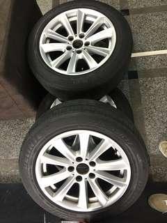 🚚 BMW F10 鋁圈(含胎六成新)直上