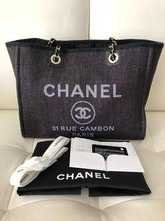 Chanel Deauville Medium Black with Gold Hardware 19C