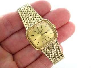 浪琴 復古鍍金石英女錶