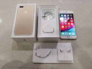 Beautiful Full Box Gold iPhone 7 Plus, 256GB