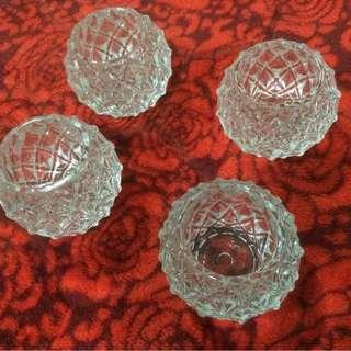 Glass Mini Pot 4pcs RM10! Cheap