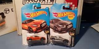 Hot Wheels Nissan Gtr R35 Orange / Grey