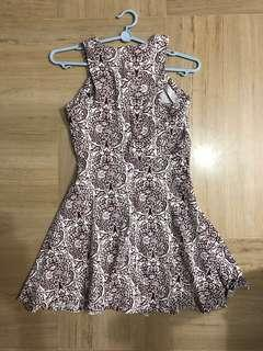 H&M Cut-in and Flare Dress(Purple)