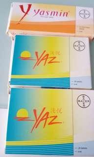 口服避孕藥三盒 優悅yaz yasmin