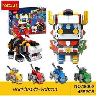 In Stock* Decool Brickheadz 18002 : Voltron