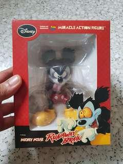 "MEDICOM DISNEY RUNAWAY BRAIN MICKEY MOUSE 4.5"" MORACLE ACTION FIGURE"
