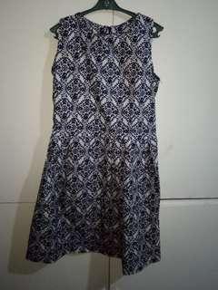 Bohemian Printed A-Line Dress