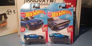 Hot Wheels Skyline 2000 gt-r and r33 gtr *then and now set*