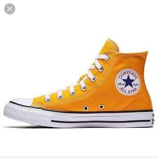 Orange Converse High Cut
