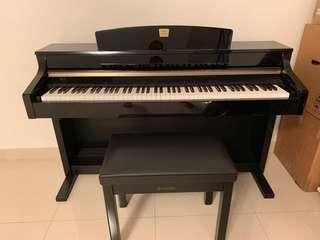 Yamaha Clavinova CLP-330 Piano ebony black wood finish