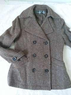 Vertical Club Wool Coat