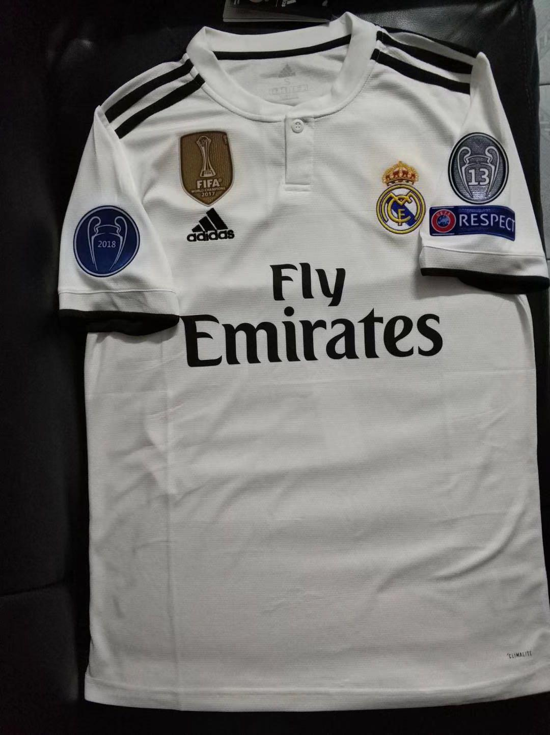 best sneakers 85282 9f70a 18/19 Real Madrid home kit Real Madrid jersey 18/19 Real ...