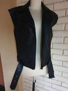 leather jacket H&M