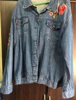 Plus Size Maong Jacket