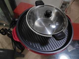 Steamboat BBQ multifunction pot and hotplate combo
