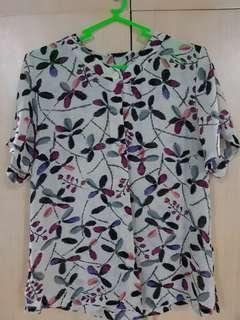 Button down floral top