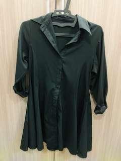 Kemeja hitam / dress hitam / dress kemeja