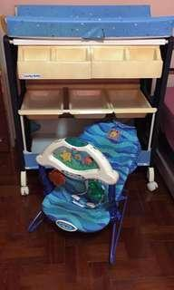Rocker and Diaper Station