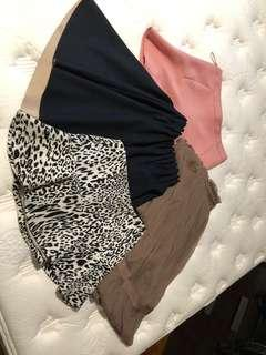 Bundle 3: max studio silk skirt + 3 Zara skirts