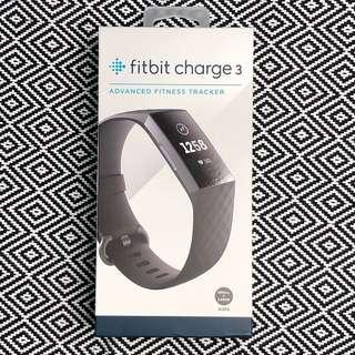 Fitbit Charge 3 black / graphite advanced fitness tracker