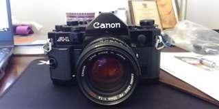 Canon A1 A-1 (big brother of AE-1) 35mm film camera w SCC 50mm f1.8 lens
