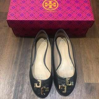 Tory Burch black leather Shoes for SALE!