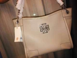 [AUTHENTIC] TORY BURCH BRITTEN SMALL SLOUCHY TOTE FRENCH GREY #NEW99