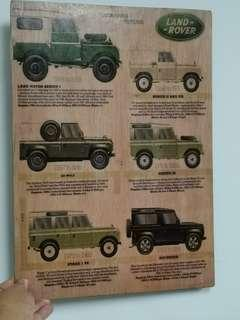 Land Rover plywood wall hanging display 30x42cm