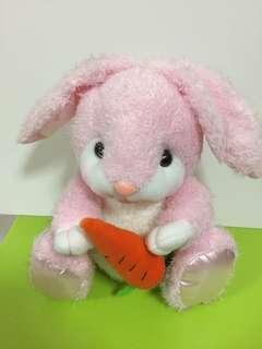 Pink rabbit stuffed toy