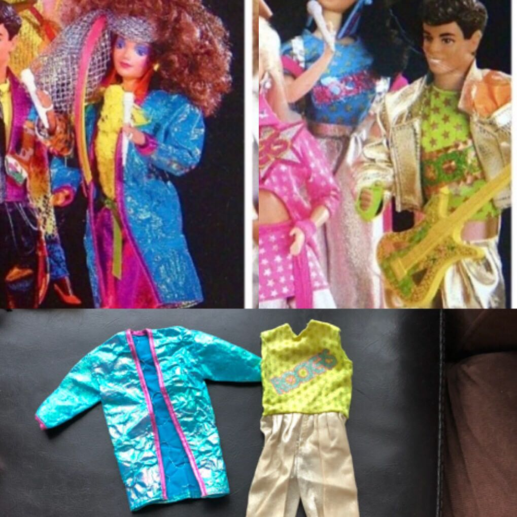 1985 Barbie And The Rockers Midge Jacket Free Gift Dereks Costume Vintage Collectibles On Carousell