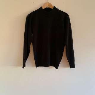 Black turtle neck knit