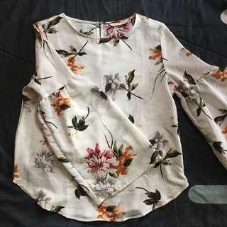 seed floral top #new99