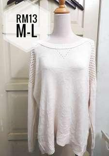 Knitted Top cream fit L
