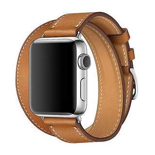 Double tour Brown Bracelet Apple Watch