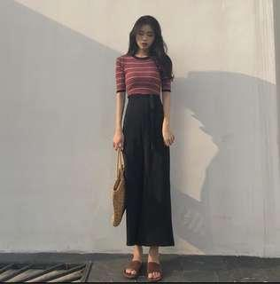 Straight cut Long pants