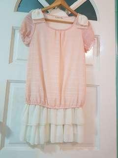 <BRAND NEW> CUTE PINK CHIFFON DRESS