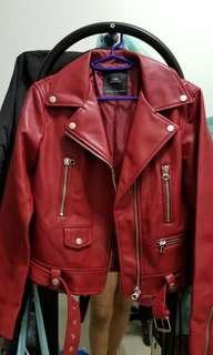 Zara leather jacket Sz M