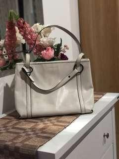 Charles and keith white bag