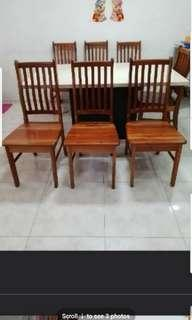 Good condition dining quality solid wood wooden chair x 3