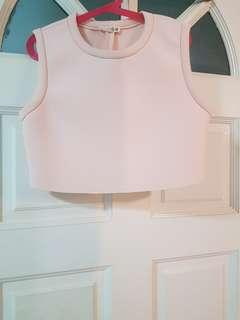 <BRAND NEW> PALE PINK SLEEVELESS CROP TOP